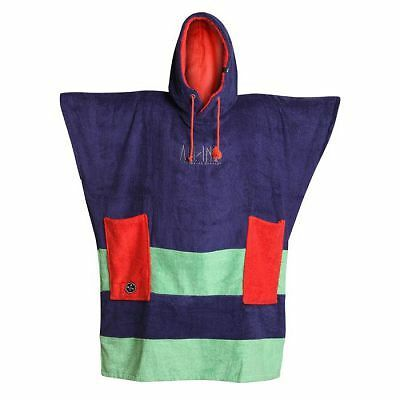 Poncho All In Organique Navy Mint Red