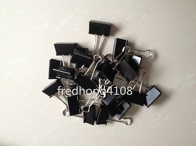 24pcs 41mm Black Metal Binder Clip Paper Clips For Office School Supplies