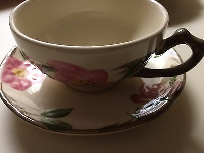 Vtg Franciscan Desert Rose Tea Cup with saucer Made in England
