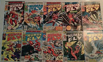 Human Fly Comic Books 1, 2, 3, 4, 5, 6, 7, 14, 15, 16