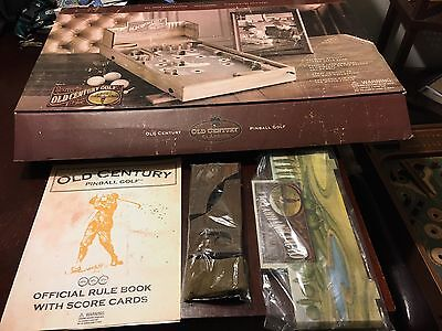 Old Century Classics Table Pinball Golf Orig Box Parts In Plastic