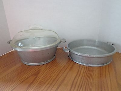 Vintage Guardian Service Ware 2 Casserole Dishes W/glass Lid