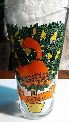 PEPSI 12 Days Of Christmas Tumbler Glass 12oz 6th Day SIX GEESE A LAYING