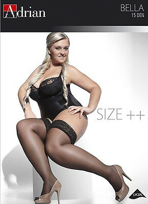 Classic Stockings Germany Lace Top Sheer Black Plus Size