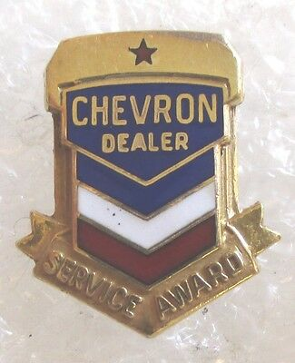 Vintage Chevron Dealer Service Award Pin-Gasoline Gas Station