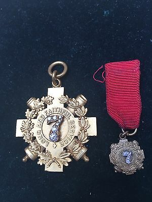 American Long And Faithful Service Cross Of Honor  By Tiffany &co I Gold 22k