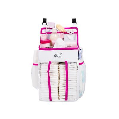DaliWay Baby Diaper Organizer for Nursery (Pink) Pink NO TAX
