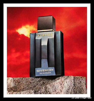 1987 Xeryus Cologne by Givenchy Ad - Vintage 1980s 80s Advertising Page - Mens