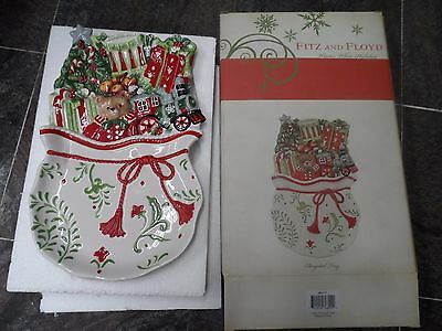 Fitz and Floyd Winter White Holiday Elongated Tray 29-717