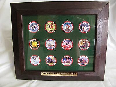 Commemorative Poker Chip Collection Set of 12
