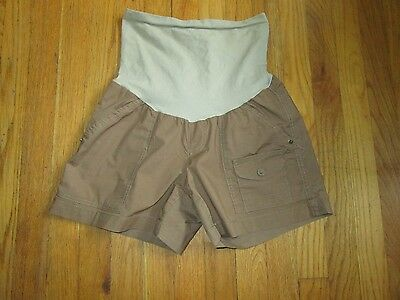 Women's Tan Khaki Maternity Shorts - Oh Baby By Motherhood - Size S