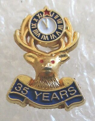 Benevolent and Protective Order of Elks 35 Year Member Award Pin-BPOE
