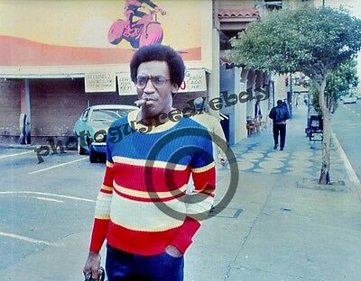 Bill Cosby photograph 1970, cigar in mouth, San Francisco