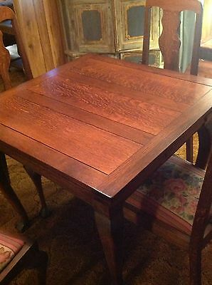 Antique Dining Table matching Chair Fold Under Extension Classy 120 Years Plus