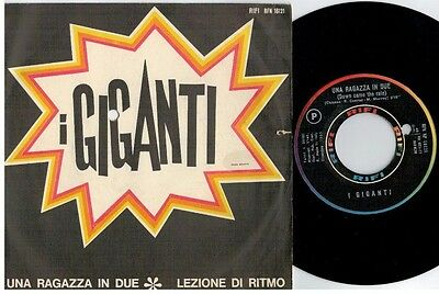 I GIGANTI Una ragazza in due 45rpm 7' PS 1965 ITALY MINT- Beat Prog