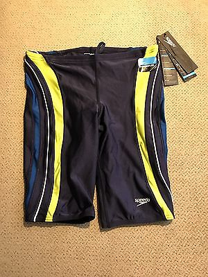 Boys Speedo Power flex Jammers Shorts Racing Swimsuit $49 Neon Blue 28