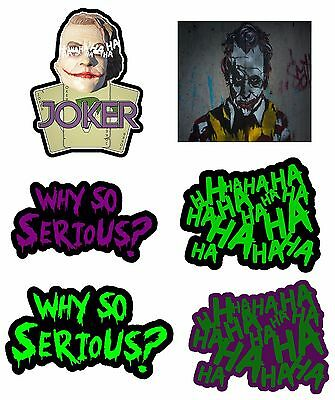 "Haha Sticker Decal Joker Serious Evil Body Window Car White 8/"" HAHAsqVCwht8"