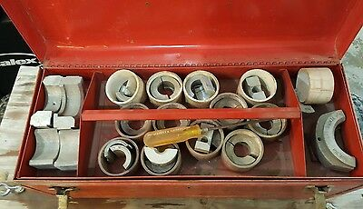 McElroy T Pipe Fusion Poly Tool Insert Set MANY SIZES WITH BOX