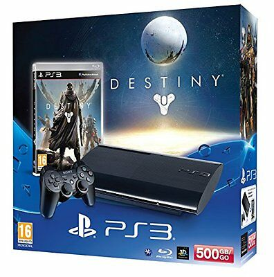 Sony PlayStation 3 500GB Super Slim Console with Destiny (New) - (Free Postage)
