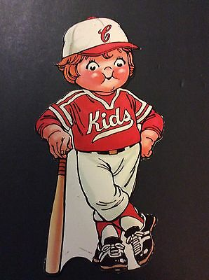 Campbell's Soup Company CAMPBELL KIDS Cardboard Advertising Cut-Out  BASEBALL
