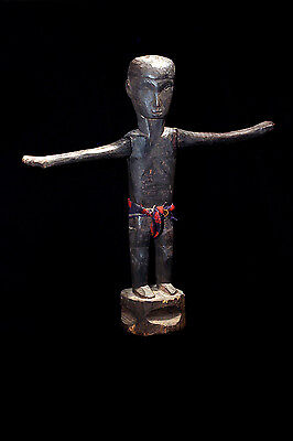 """Ifugao Tribal Used Antique """"Dancing"""" 19Th Century Published Bulul Statue!"""
