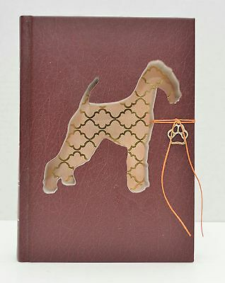 Airedale Upcycled Book - 008