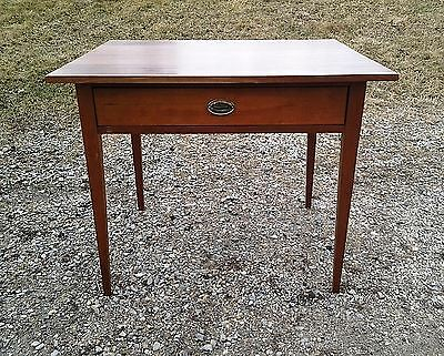 19th Century Sheraton Cherry Work Table Antique Circa 1840