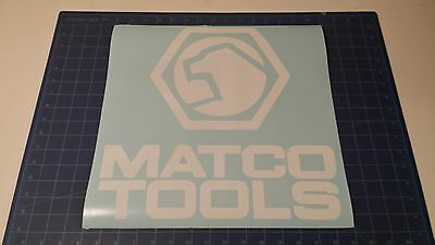 "Matco Tools Sticker 14""x14"" inch available White and Black"