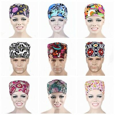 Men Women Doctor/Nurses Printing Scrub Cap Medical Surgical Surgery Hat Newest