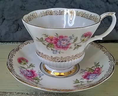 Royal Albert Pale Blue Reverie Tea Cup & Saucer Set