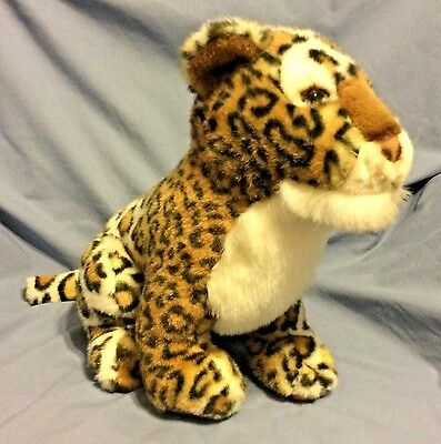 Vintage 1988 Chrisha Large Stuffed Plush Spotted Big Cat Jaguar Cheeta Excellent