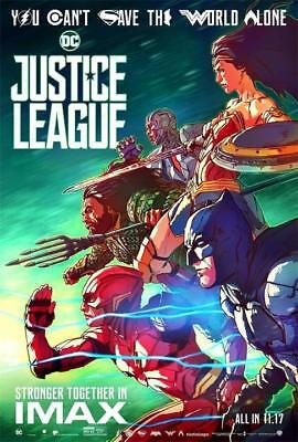 "Justice League Movie Poster 2017 DC Comics iMAX Film Print 24""x36""/60x90cm 049"