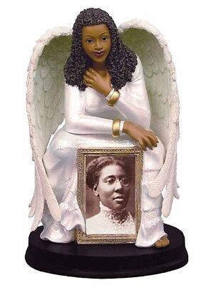 Guardian Angel Figurine With Photo Frame African American (16612)