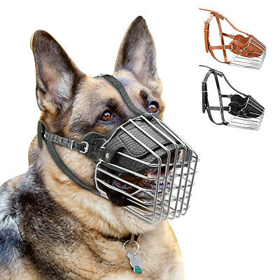 Strong Wire Basket Dog Muzzle No Bite for Amstaff Pitbull Bull Terrier 3 Sizes