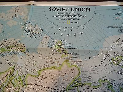 Vintage National Geographic Map The Soviet Union 1990