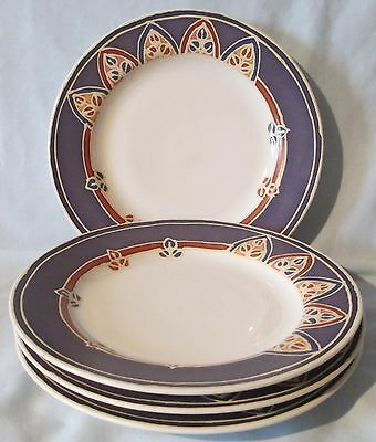 Block Canyon Tan Rust Blue Salad Plate set of 4
