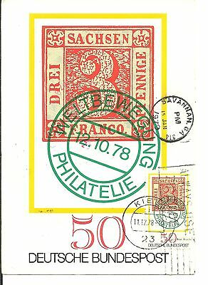 Germany 1978  Pc With Stationary & Adhesive Stamp To Usa (53)