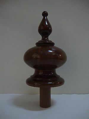 Finished  Walnut Wood  Bed, Furniture Or Newel Post Finial  #w37