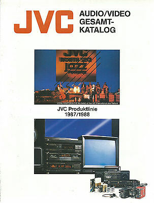 JVC Katalog Brochure / 1987 1988 / VHS Video Audio / AX-1100BK TD-V66BK uvm.