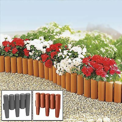 8 - 32 Pack Palisade Lawn Edge Border Garden Path Patio Edging Fencing Plastic