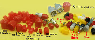 SMA RCA BNC TNC N female Plastic covers Dust cap Red Protection cover