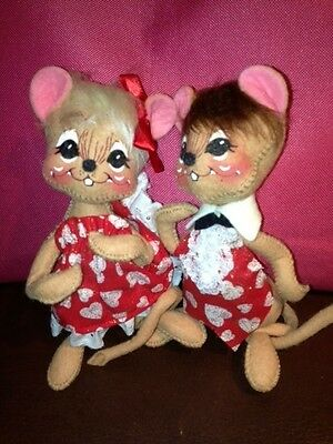 Annalee St.Valentine Day Mouse sweetheart couple - vintage 1999