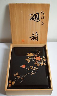 Authentice Japanese Wooden Lacquered Box by Asobe