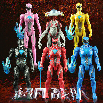 6pcs Movie Power Rangers Super Heroes Action Figures Doll Set Kids Boy Girl Toy