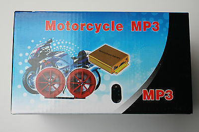Motorrad Alarmanlage Alarm Sirene Sicherheit Moped Roller Quad Audio Mp3 Player