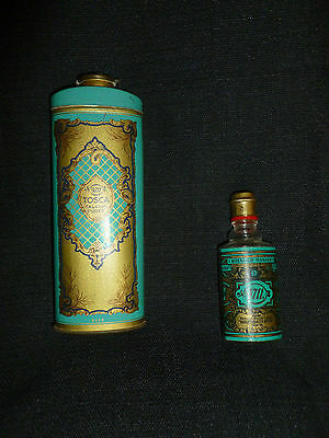 Vintage TOSCA Embossed Talcum Powder Baby Powder Tin Container & EXTRA