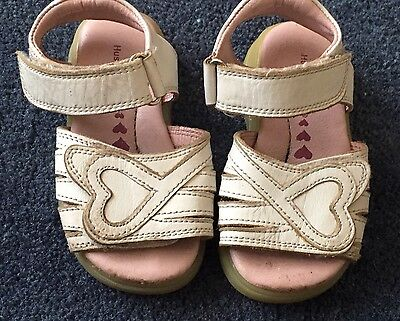 hush puppies leather sandals shoes white size 7 163 1 50