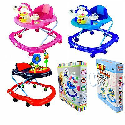 Baby 3 Adjustable Height Walker First Steps Activity Musical Toy lightweight