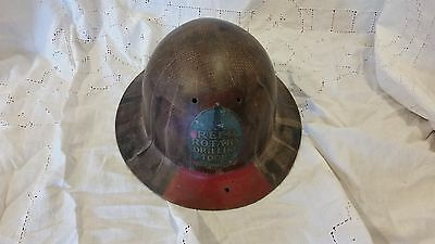 """Vintage Fiberglass """"Tortise Shell"""" Hard Hat """"Reed Rotary Drilling Tools"""""""