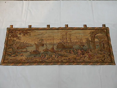 Vintage French Beautiful Scene Tapestry 205X74cm (T941)